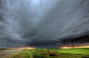 Storm Digital Art - Storm clouds over Saskatchewan by Mark Duffy