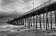 Oceanside California Posters - Storm Clouds Over The Pier Poster by Eddie Yerkish
