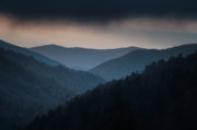 Haze Metal Prints - Storm Clouds over the Smokies Metal Print by Andrew Soundarajan