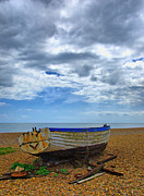 Aldeburgh Prints - Storm Clouds Passing Over Print by Chris Thaxter