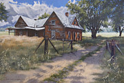Egg Tempera Prints - Storm Clouds Print by Peter Muzyka