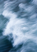 Wave Metal Prints - Storm Driven Metal Print by Mike  Dawson