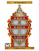 Family Coat Of Arms Art - Storm Family Crest by Anne Norskog