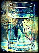 Unusual Lightning Mixed Media Prints - Storm In A Glass Of Water Print by Paulo Zerbato
