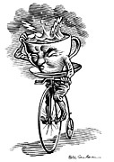 Storm In A Teacup, Conceptual Artwork Print by Bill Sanderson