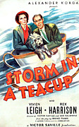 1937 Movies Posters - Storm In A Teacup, Vivien Leigh, Rex Poster by Everett