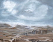 Desolate Paintings - Storm in Fire Valley by Cheryl Allin
