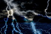Storm Digital Art Prints - Storm in the Blue Mountains Print by Angel Jesus De la Fuente