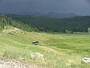 Log Cabin Photos - Storm in the Valley by Peter  McIntosh