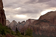 National Framed Prints - Storm in Zion Framed Print by Jane Rix