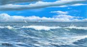 Waterfowl Paintings - Storm is Coming by Bob Patterson