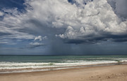 Melbourne Beach Prints - Storm Is Coming Print by Cheryl Davis