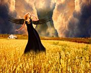 Thunder Painting Metal Prints - Storm Keeper Angel Metal Print by Jai Johnson