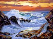 Storms Paintings - Storm on the Irish Coast by David Lloyd Glover