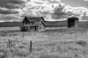 Outhouse Posters - Storm Over Big Sky Montana Poster by Sandra Bronstein