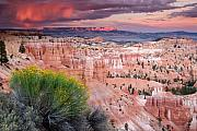 Bryce Canyon Acrylic Prints - Storm over Bryce Canyon Acrylic Print by Eric Foltz