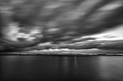 Lake Champlain Posters - Storm Over Champlain Poster by Mike Horvath