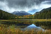Nature  Digital Art Posters - Storm Over Cub Lake Poster by Pete Hellmann