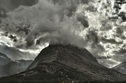 Mountainscapes Framed Prints - Storm Over Grinnell Framed Print by Adam Jewell