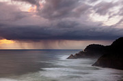 Silk Water Prints - Storm over Heceta Head  Print by Keith Kapple
