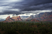 Sedona Framed Prints - Storm Over Sedona  Framed Print by Saija  Lehtonen