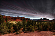 Grey Clouds Photo Originals - Storm Over Sedona by Wayne King