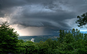Looming Prints - Storm over Shenandoah Print by Lara Ellis