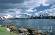 Australia House Prints - Storm Over Sydney Harbor Print by Sandra Bronstein