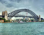 Royalty Originals - Storm Over Sydney Harbour Bridge Print Image by Chris Smith