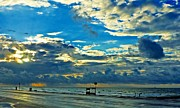 John Collins Metal Prints - Storm over the Gulf Metal Print by John Collins