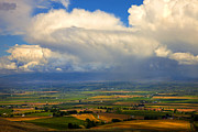 Squall Prints - Storm over the Kittitas Valley Print by Mike  Dawson