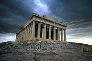 Threatening Prints - Storm over the Parthenon Print by Cliff Wassmann