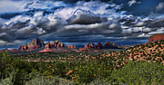Arizona Art - Storm Over The Red Rocks by Elaine Snyder