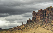 Superstition Framed Prints - Storm over the Superstitions  Framed Print by Saija  Lehtonen
