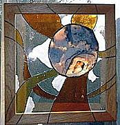 Stone Glass Art - Storm Planet by Ladonna Idell