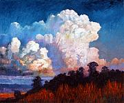 Storm Clouds Painting Originals - Storm Rolling In by John Lautermilch
