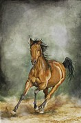 Galloping Paintings - Storm Runner by Nonie Wideman