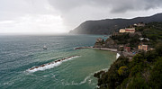 Cinque Terre Metal Prints - Storm Sets In Metal Print by Mike Reid