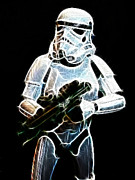 Black Prince Framed Prints - Storm Trooper Framed Print by Paul Ward