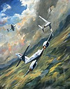 Jets Paintings - Storm Warning by Colin Parker