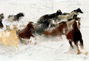 Horse Paintings - Storm Warning by Robert Smith