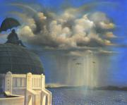 Weather Acrylic Prints - Storm Watch at Griffiths by Susi Galloway