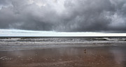 Reflective Water Photos - Storm Watch by Betsy A Cutler East Coast Barrier Islands