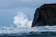 Haystack Rocks Prints - Storm Watch Print by Bob Christopher