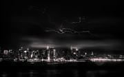 City Scape Metal Prints - Storming into the Night Metal Print by David Hahn