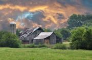 Country Scenes Photo Metal Prints - Storms Coming I Metal Print by Jan Amiss Photography