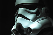 Shadow Photo Posters - Stormtrooper Helmet Poster by Micah May