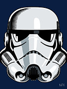 Wars Digital Art Posters - Stormtrooper Poster by IKONOGRAPHI Art and Design