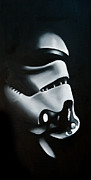 Wars Painting Metal Prints - Stormtrooper Metal Print by Clifton Llamas