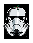 Helmet Digital Art - Stormtrooper Seasons Greetings by IKONOGRAPHI Art and Design